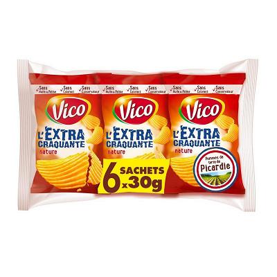 Vico Vico chips extra craquante salées 6x30g