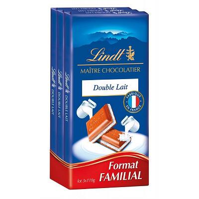 Lindt Lindt maître chocolatier double lait 3x110g
