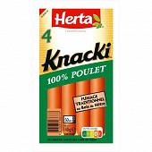 Herta knacki 100% poulet x4 140g