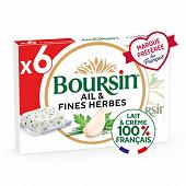 Boursin ail & fines herbes 6x16g