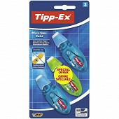 Bic ruban correcteur tipp-ex micro tape twist X3 format spécial