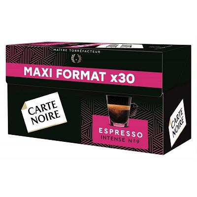 Carte Noire Carte Noire capsules espresso intense n°9 type nespresso x30 159g