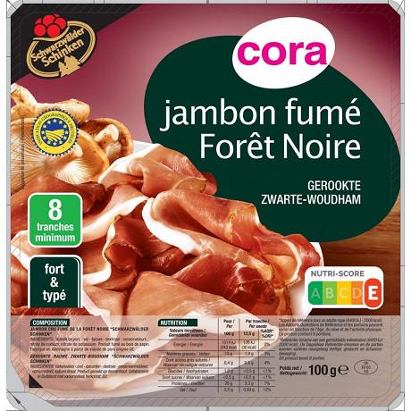 Cora jambon cru fumé de la forêt noire 100g