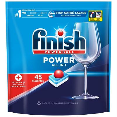Finish Finish Tout en 1 régular doypack x45 896g