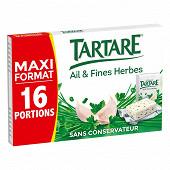 Tartare l'original ail et fines herbes maxi format 16 portions 250g