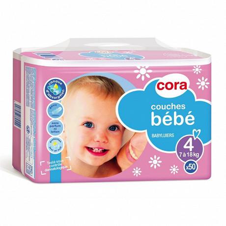 Cora baby couches bébé taille 4 (7 à 18kg) x50