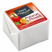 Pavé d'affinois poivron piment 150g - lait de vache pasteurisé