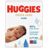Lingettes huggies pure extra care x3