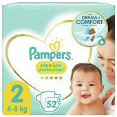 Pampers premium protection new baby couches géant taille 2 x52