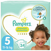 Pampers premium protection langs géant taille 5 x34