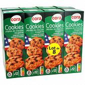 Cora cookies nougatine lot de 8 1.6kg