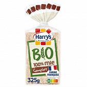 Harrys pain de mie bio sans croûte 100% mie complet 325g