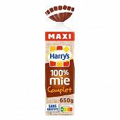 Harrys 100% mie pain de mie sans croute complet maxi 650g