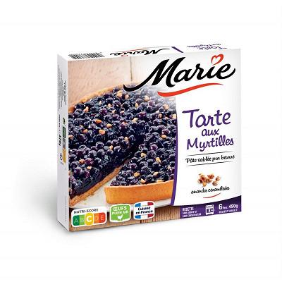 Marie Marie tarte aux myrtilles 490g