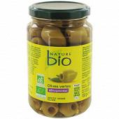 Nature bio olives vertes dénoyautées 160 g