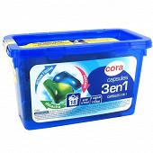 Cora lessive doses bi-compartiment 18X24.5ml 18 lavages