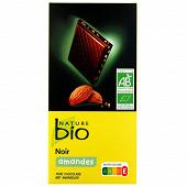 Nature bio tablette noir et amande bio 100g