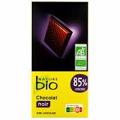 Nature bio tablette noir 85% bio 100g