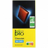 Nature Bio Chocolat au lait supérieur 100g