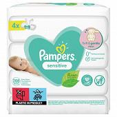 Pampers lingettes bébé sensitive 4x52