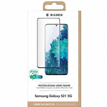 Bigben Protège écran verre trempé 2,5D pour Galaxy S21 PEGLASSGS21