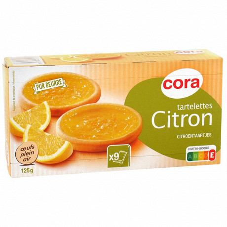 Cora tartelettes citron pâte pur beurre 125g