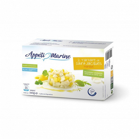 Appéti'Marine 2 tartares de Saint Jacques mangue 140g