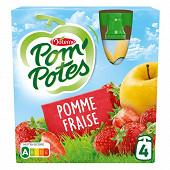 Pom'potes pomme fraise 4x90g