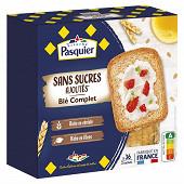 Pasquier biscottes blé complet sans sucres ajoutés 300g