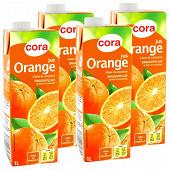 Cora jus orange brique 4 X 1 l
