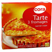 Cora tarte 3 fromages 400g