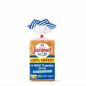 Jacquet maxi tranches nature sans sucres ajoutés 550g + 25% offert