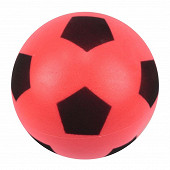 Ballon football duarig mousse rouge 20cm