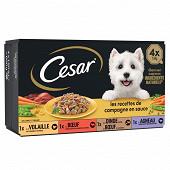 Cesar barquette mini filets en sauce 4x150g