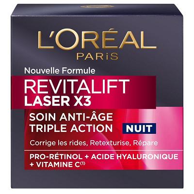 L'Oréal Dermo revitalift laser x3 creme anti age nuit 50ml