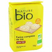 Nature bio farine complète de blé T150 1kg