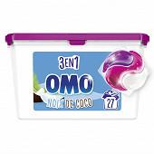 Omo lessive capsule 3en1 noix de coco 27 lavages