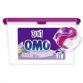Omo lessive capsule 3en1 bouquet de provence 27 lavages
