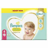 Pampers premium protection taille 4 - 74 couches - 9-14kg