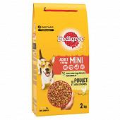 Pedigree mini croquettes petits chiens au poulet et aux légumes sac 2kg