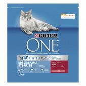 PURINA ONE Chat Stérilisé Croquettes pour chat adulte au B?uf et au Blé - 1,5 KG