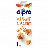 Alpro Lait d amande grillée   sans sucres 1l