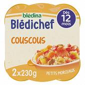 Bledina bledichef couscous petits morceaux dès 12 mois 2x230g