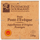 Patrimoine gourmand petit Pont l'Evêque AOP au lait pasteurisé 22%mg 220g