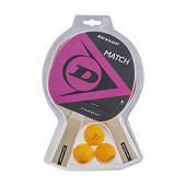 Set ping pong 2 raquettes + 3 balles