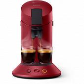 Philips machine à dosette Senseo Original Plus Deep Red CSA210/91