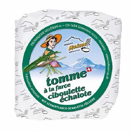 Tomme moleson farce ciboulette échalote 160g 21%mg/pt