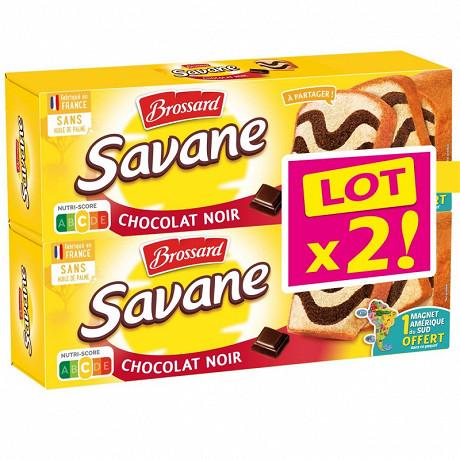 Brossard lot de 2 savane chocolat noir 310g