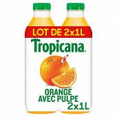 Tropicana pure premium orange avec pulpe pet 2x1l