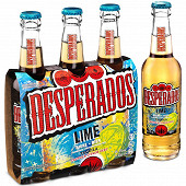Desperados lime bière aromatisée téquila citron, citron vert, cactus 3x33cl 3%vol